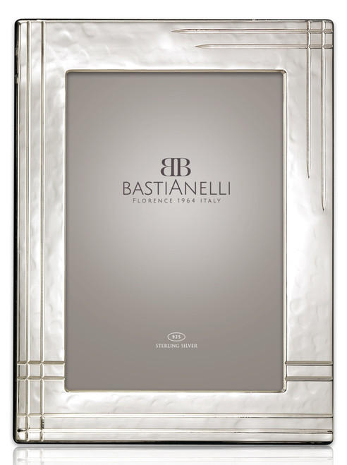 Bastianelli 'Righe' 3.5x5 Sterling Silver Picture Frame