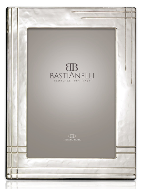 Bastianelli 'Righe' 5x7 Sterling Silver Picture Frame