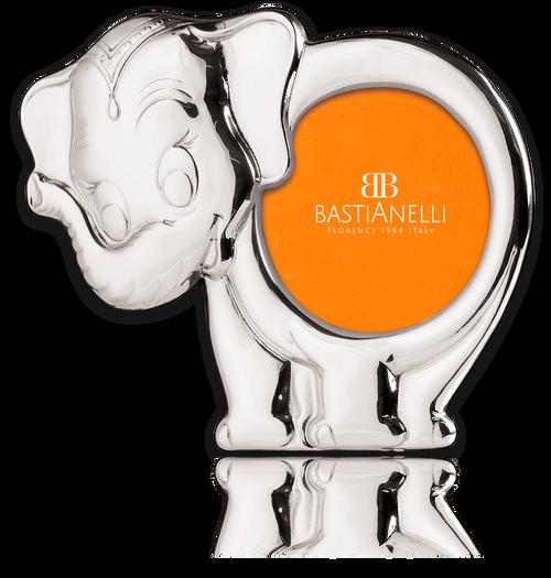 """Bastianelli 'Elefante' 3.5"""" Sterling Silver Silhouette Picture Frame"""