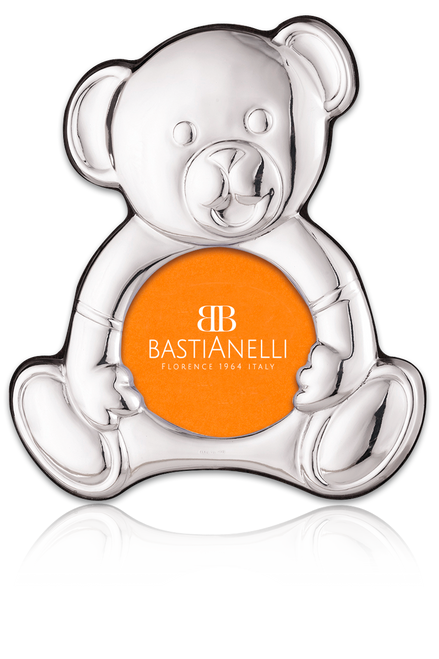 "Bastianelli 'Orso' 3.5"" Sterling Silver Silhouette Picture Frame"