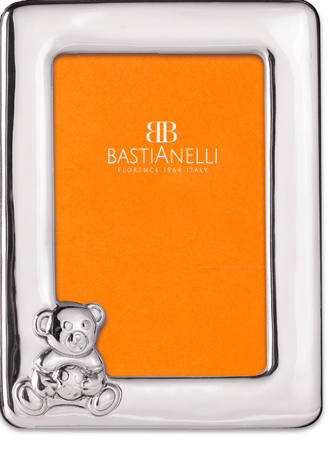 Bastianelli 'Orso' 3.5x5 Sterling Silver Picture Frame