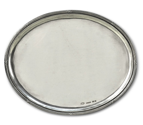"'Oval Plain' Pewter Platter 13""x10"""