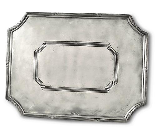 """'Savoy Rectangle' Pewter Platter 15""""x11.5"""""""