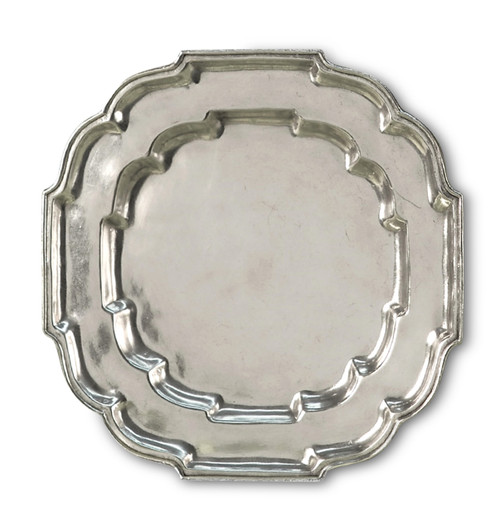 """'Chippendale' Pewter Platter Dia: 12"""""""