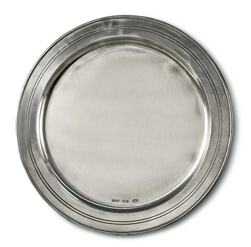 "'Round' Pewter Platter Dia: 13"""