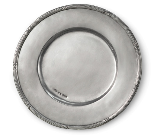 "'Savoy Round' Pewter Platter Dia: 13"""