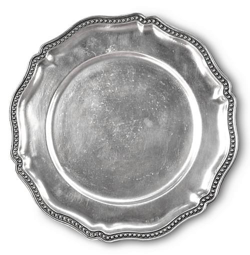 "'Chippendale Beaded' Pewter Platter Dia: 13"""