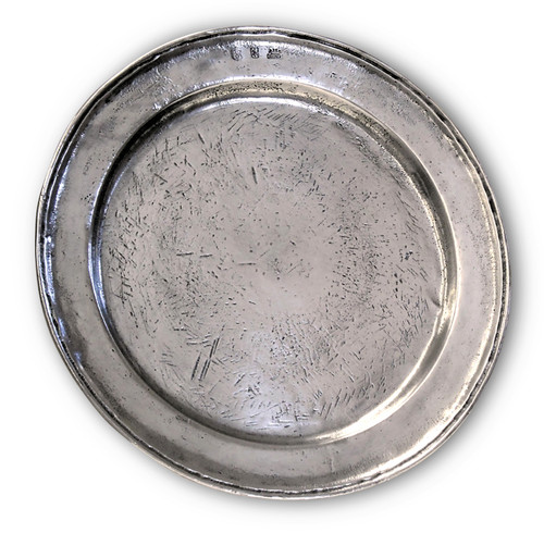 "'Round Plain' Pewter Platter Dia: 13"""