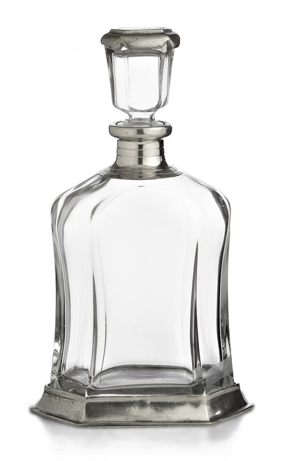 Cavagnini 'Italia' Pewter and Glass Decanter