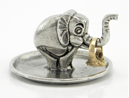 Cavagnini Elephant Solid Pewter Ring Holder
