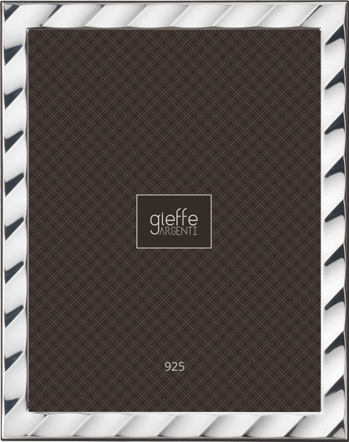 Gieffe Waves 4x6 Sterling Silver Picture Frame