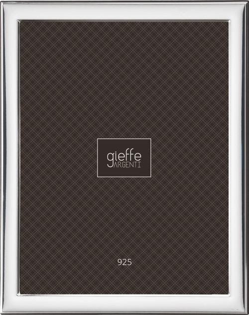 Gieffe Plain Border 4x6 Sterling Silver Frame