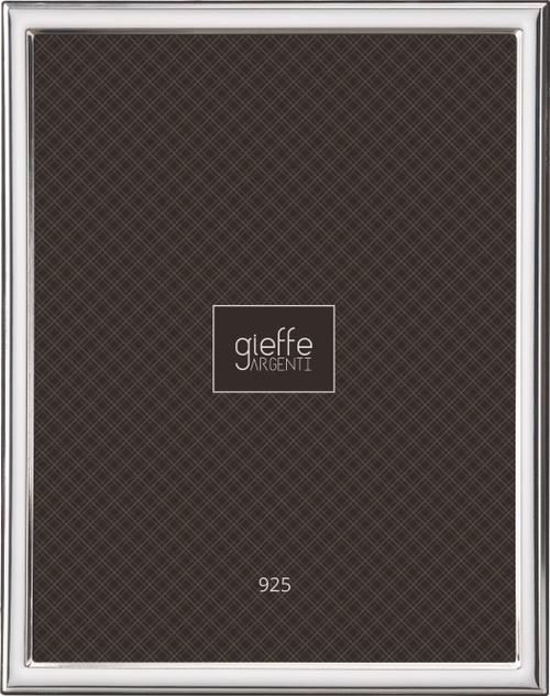 Gieffe Narrow Plain 8x10 Sterling Silver Frame
