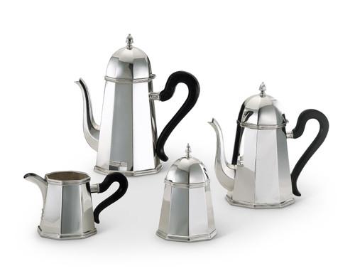 Bicama Conic Octagonal Sterling Silver Coffee-Tea Service