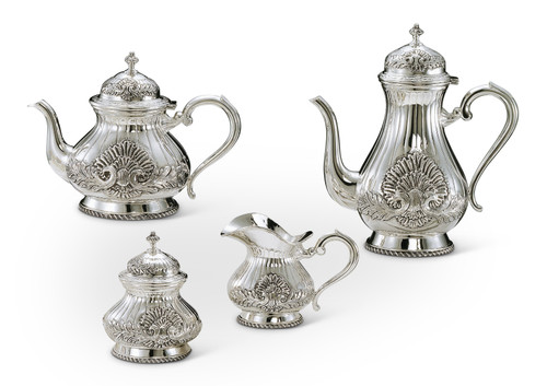 Bicama Shell Sterling Silver Coffee-Tea Service