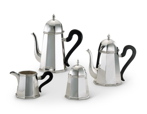 Bicama Conic Octagonal Silver Plated Coffee-Tea Service