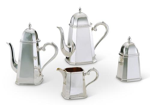 Bicama Milano Octagonal Silver Plated Coffee-Tea Service