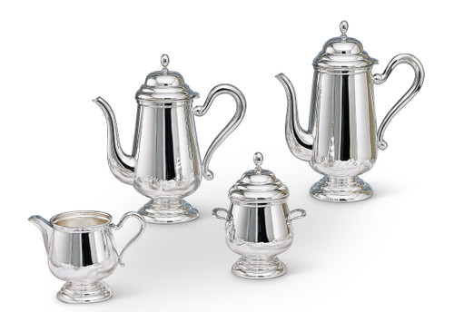 Bicama English Silver Plated Coffee-Tea Service with Base