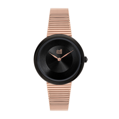 Visetti Pure Chic Series - Rose Gold and Black Women's Watch