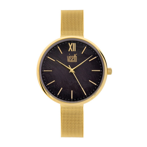 Visetti Dress Code Series - Gold and Black Women's Watch
