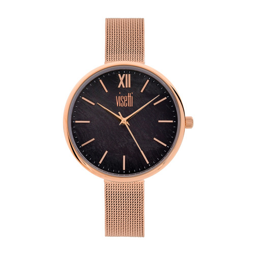 Visetti Dress Code Series - Rose Gold and Black Women's Watch