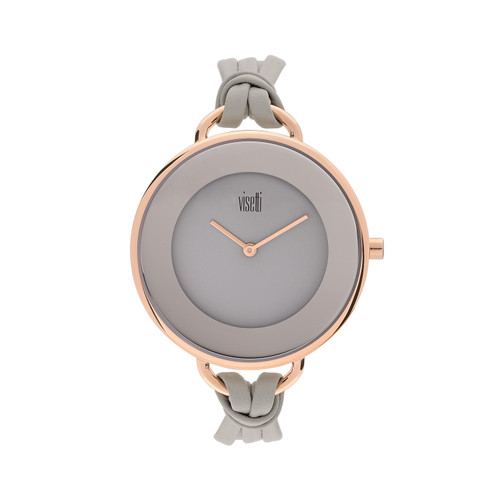 Visetti Felicity Series - Light Gray and Rose Gold Women's Watch