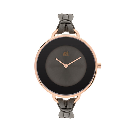 Visetti Felicity Series - Dark Gray and Rose Gold Women's Watch