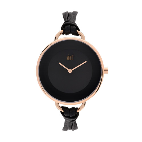 Visetti Felicity Series - Black and Rose Gold Women's Watch