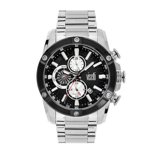 Visetti No Limit Series - Silver and Black Men's Watch