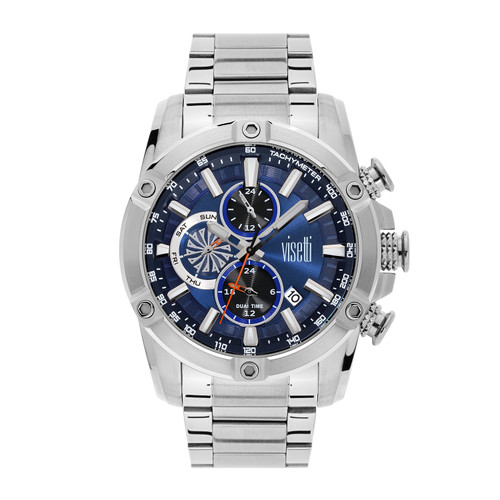 Visetti No Limit Series - Silver and Blue Men's Watch