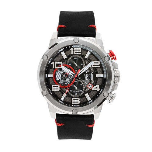 Visetti Colorado Series - Silver and Red Men's Watch