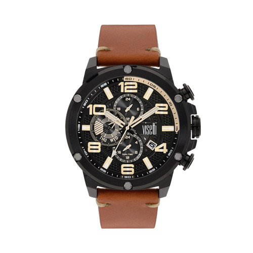 Visetti Colorado Series - Black and Brown Men's Watch
