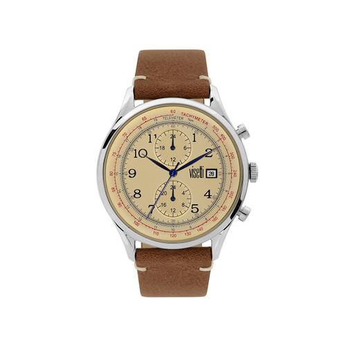 Visetti Apollo Series - Silver and Beige Men's Watch