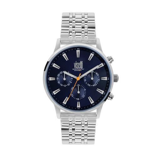Visetti Maverick Series - Silver and Blue Men's Watch