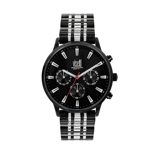 Visetti Maverick Series - Black and Silver Men's Watch