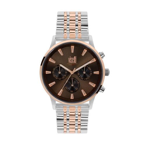 Visetti Maverick Series - Silver and Rose Gold Men's Watch