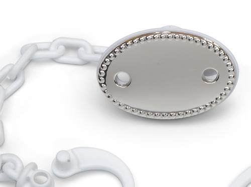 'Pearls' Sterling Silver Baby Pacifier Clip