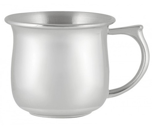 Engravable Woodbury Pewter 'Boston' Plain Handle Pewter Baby Cup