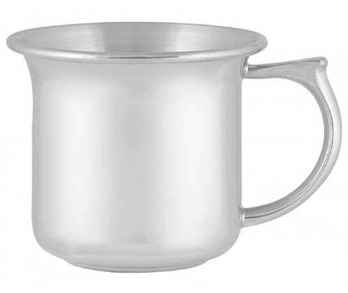 Engravable Woodbury Pewter 'Cape Cod' Plain Handle Pewter Baby Cup