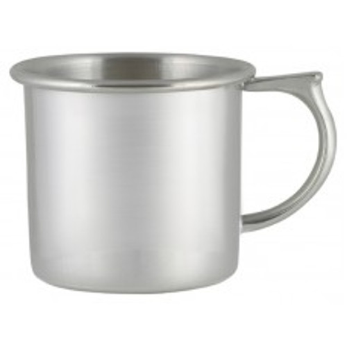 Engravable Woodbury Pewter 'Fairfield' Plain Handle Pewter Baby Cup