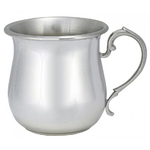 Engravable Woodbury Pewter 'Tulip Shape' Pewter Baby Cup