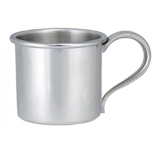 Engravable Woodbury Pewter 'Pannikin' Pewter Baby Cup