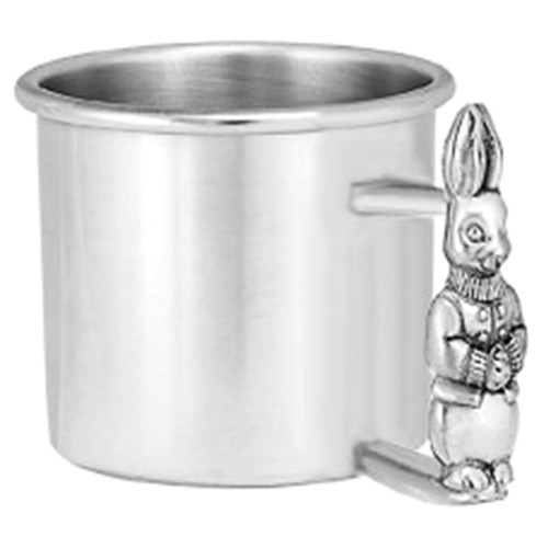 Engravable Woodbury Pewter 'Rabbit' Pewter Baby Cup