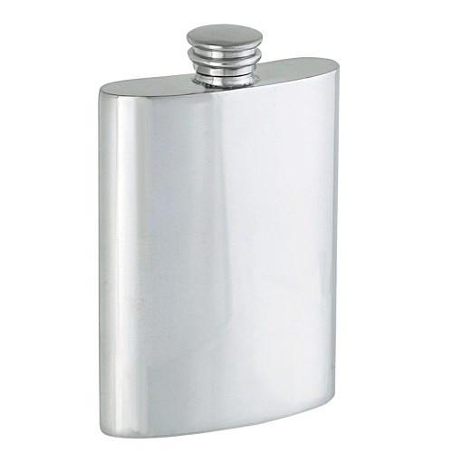 Engravable Woodbury Pewter Hip Flask