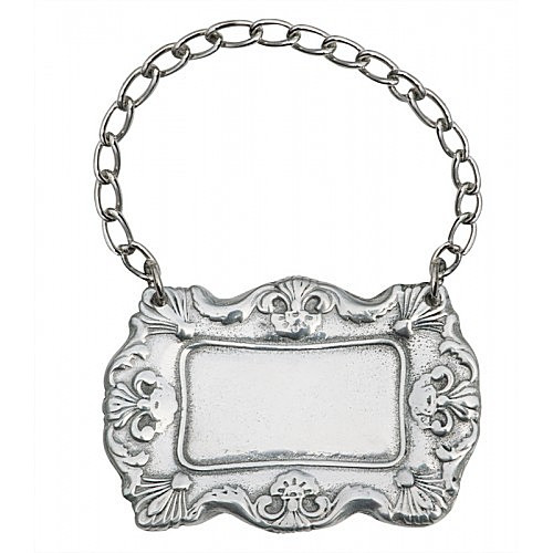 Engravable Woodbury Pewter Decanter Label