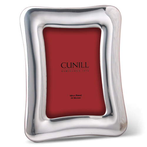Cunill Concave 4x6 Silver Plated Picture Frame