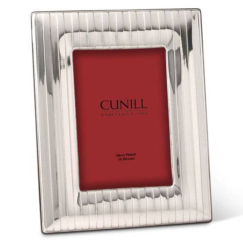Cunill Pinstripe 5x7 Silver Plated Picture Frame