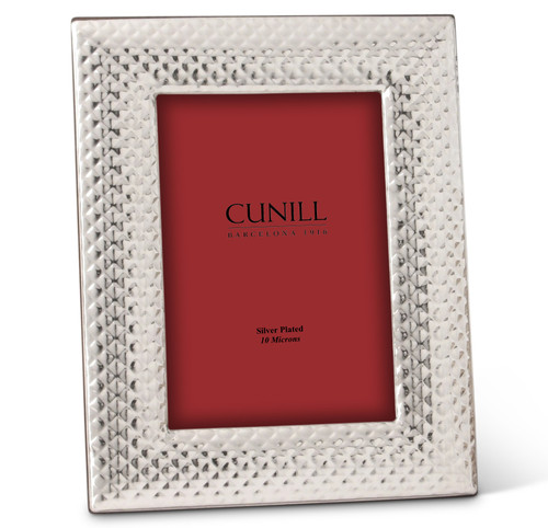 Cunill Textured 4x6 Silver Plated Picture Frame