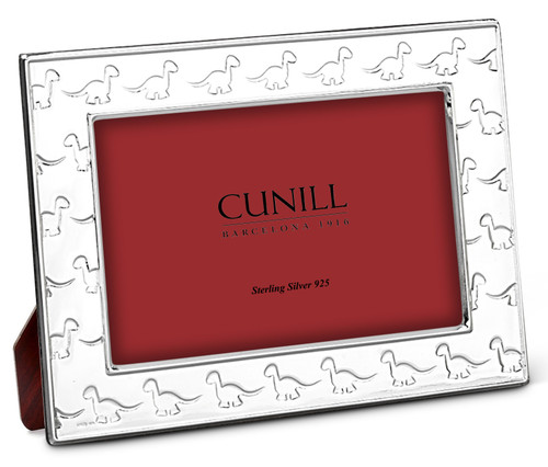 Cunill Lil Dino 4x6 Sterling Silver Picture Frame