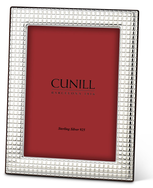 Cunill Grid 5x7 Non-Tarnish Sterling Silver Picture Frame